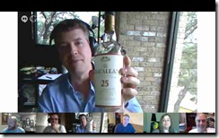 chris shows off a new bottle